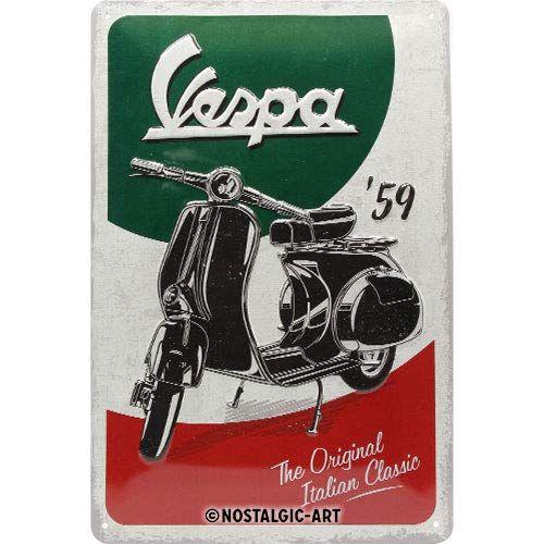 22283-Blechschild-20x30cm-Vespa-the-original-Italian-Classic-Nostalgic-Art-wms24de
