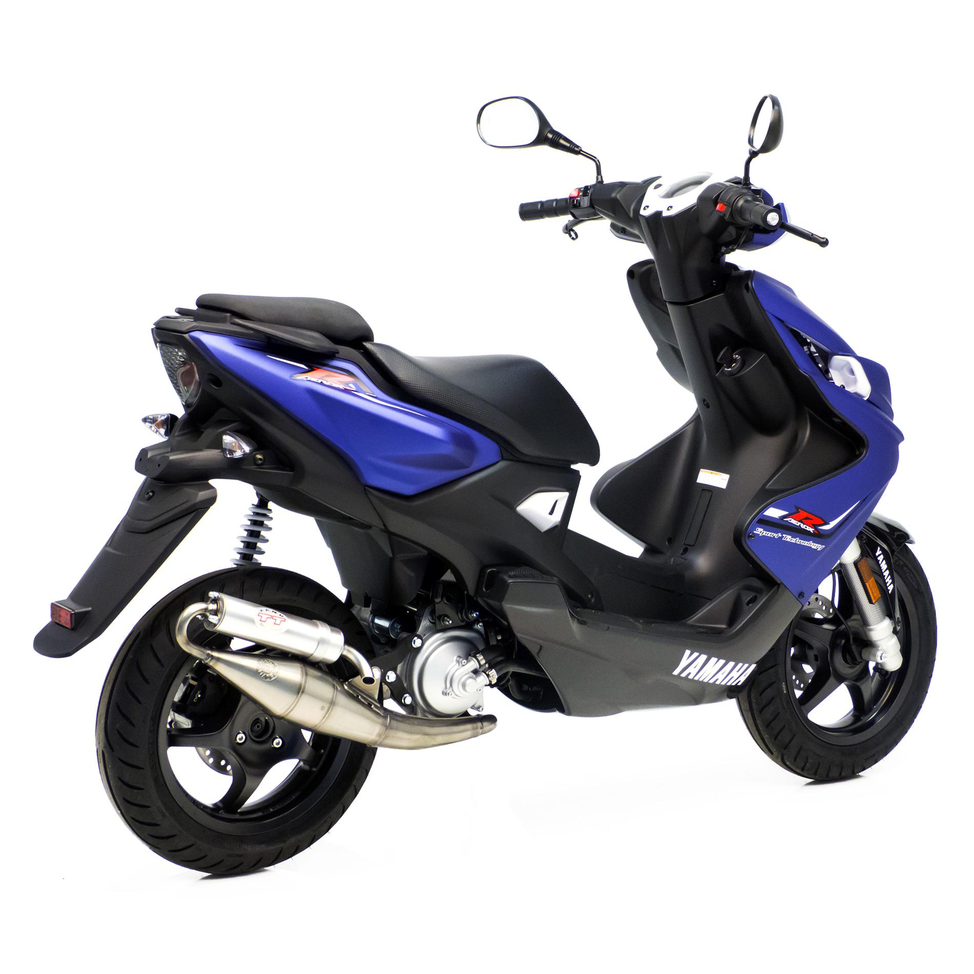Yamaha Aerox R//Yamaha Aerox Naked//Aerox 4 Leovince TT blau Tuning Sport Auspuff Yamaha Aerox 50