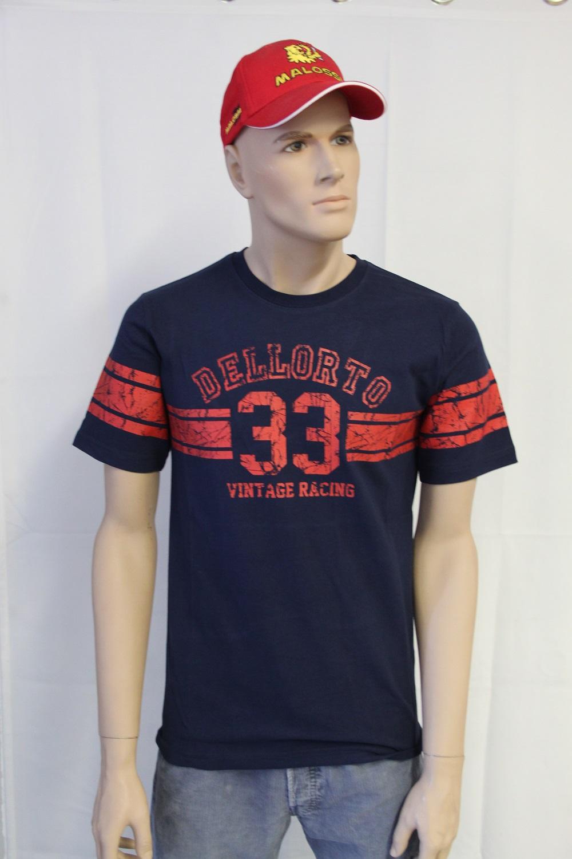 rot T-Shirt Dellorto Vintage Varsity Man