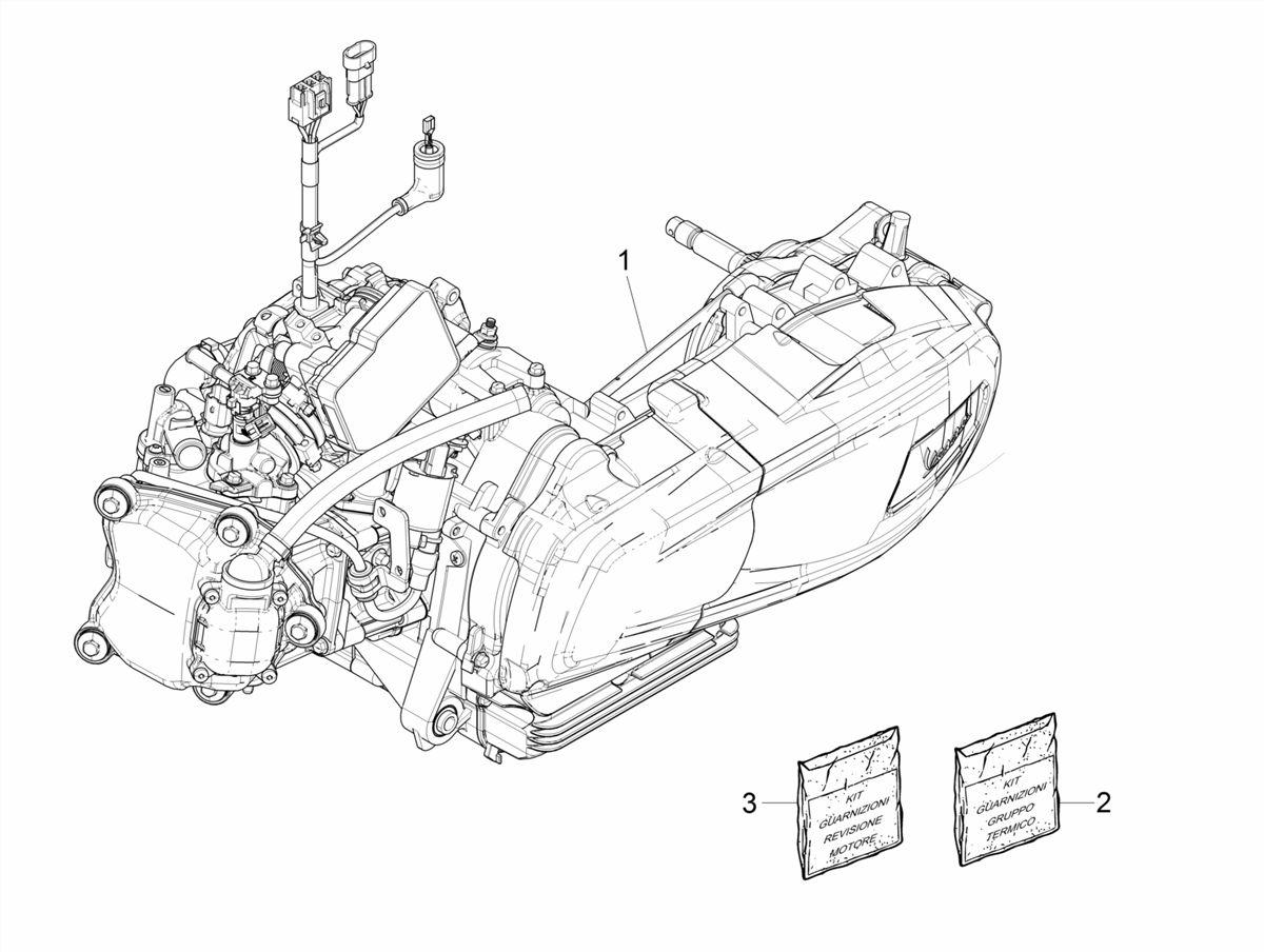 Motor | Vespa GTS 300 HPE 4T74V ie ABS E4 2019 | GTS | Vespa ... on