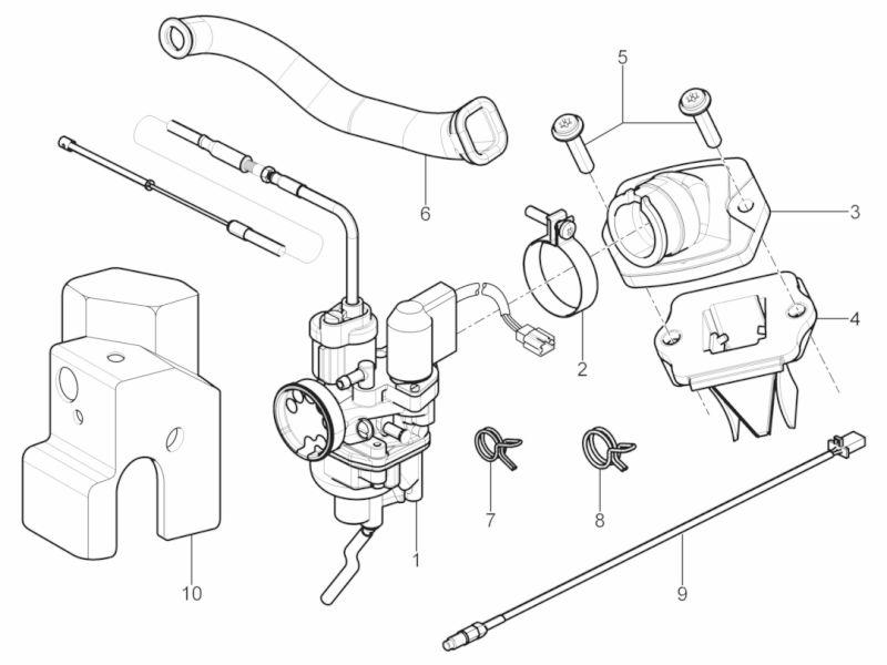 Tafel 01 39 Vergaser Komplett Ansaugstutzen Motor